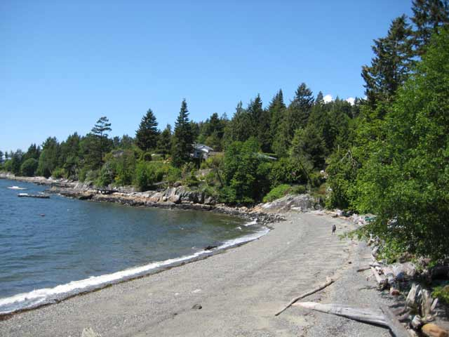 how to get to sandy cove beach west vancouver